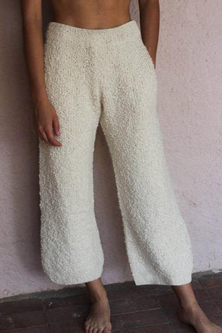Fuzzy Wide Leg Pants