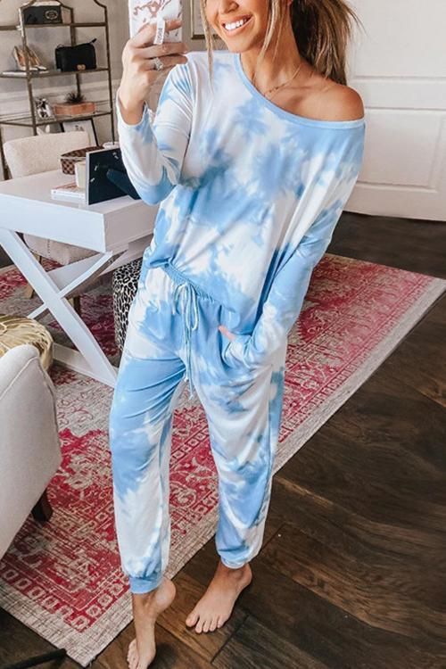 Tie Dye Drawstring Pants Set