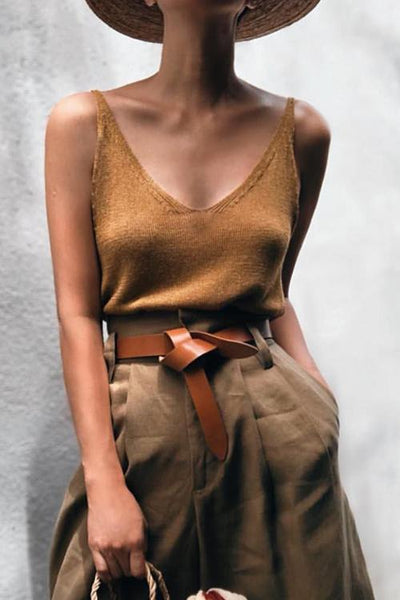 Solid Knit Slip Top
