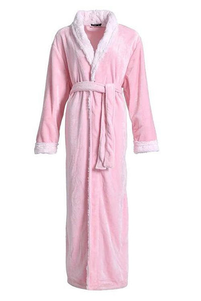 Flannel Pockets Belted Robe