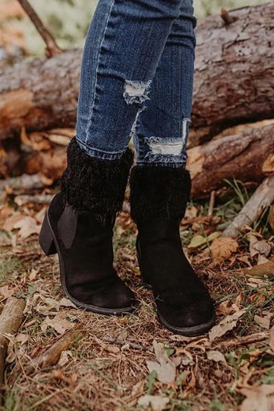 Silky Feather Pattern Topper Boot Cuffs
