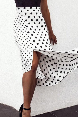 Dot Slit Bow Tied Skirts
