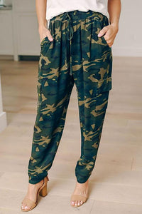 Pockets Camouflage Drawstring Pants