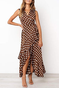 Dot Print Sleeveless Dress