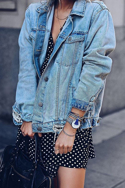 Ripped Pocket Denim Jackets