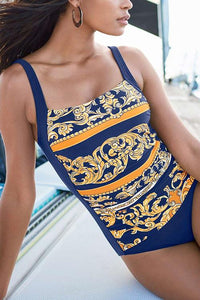 Totem Print One Piece Swimwear