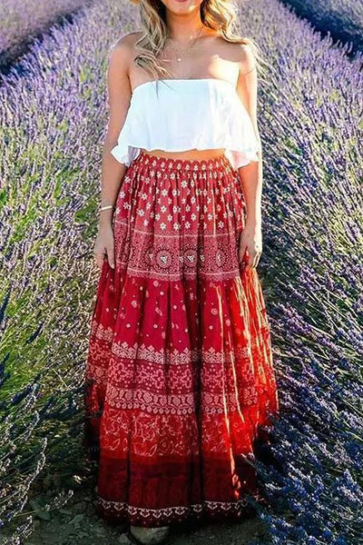 Floral Print Maxi Skirts
