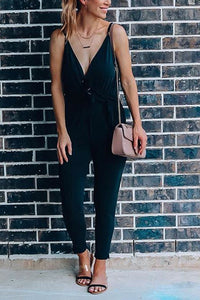 Knot Sleeveless Jumpsuit