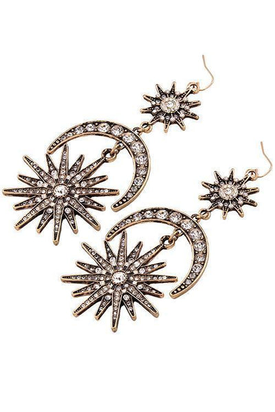 Hexagram Rhinestone Earring