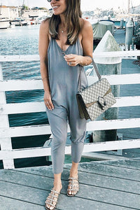 Pockets Slip Jumpsuit