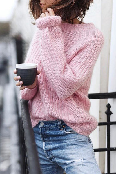 Classic O Neck Long Sleeve Sweater