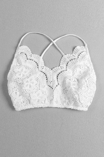 Hollow Lace Bralette