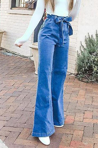 Belted Loose High Waist Jeans