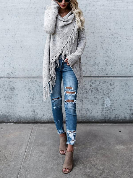 Tassel Long Cardigan