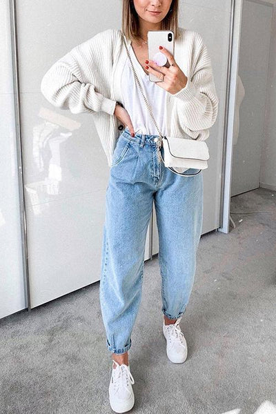 High Waist Denim Bloomers