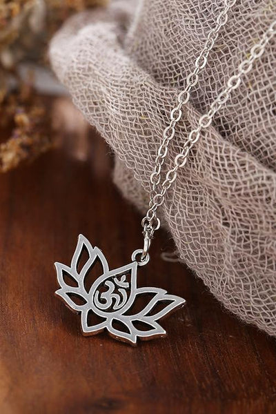 Vintage Lotus Necklace