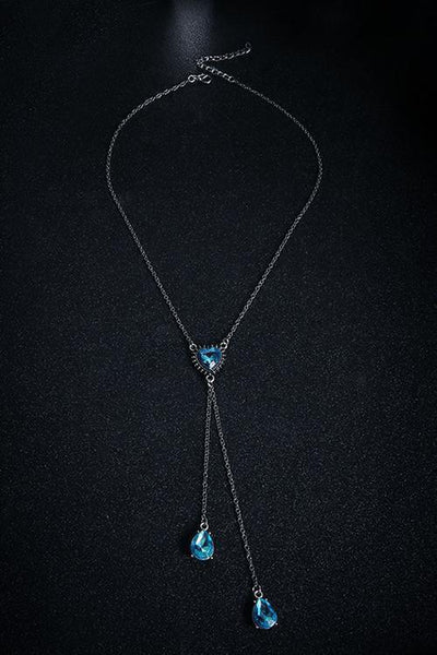 Sapphire Tassels Necklace