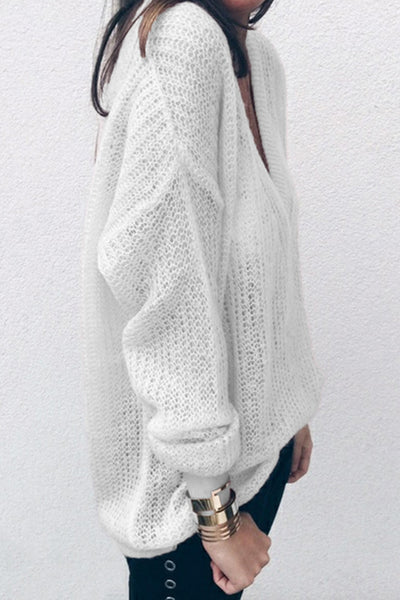 V Neck Thin Sweater