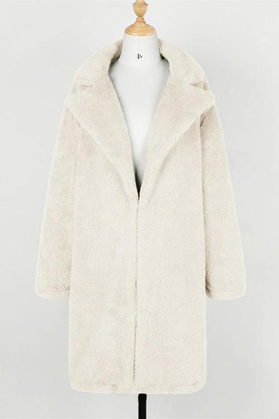 Turndown Collar Teddy Coat