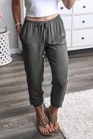 Pockets Drawstring Pants