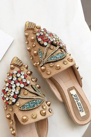 Rhinestone Pointed Slipper