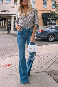 Classical High Waist Flares Jeans