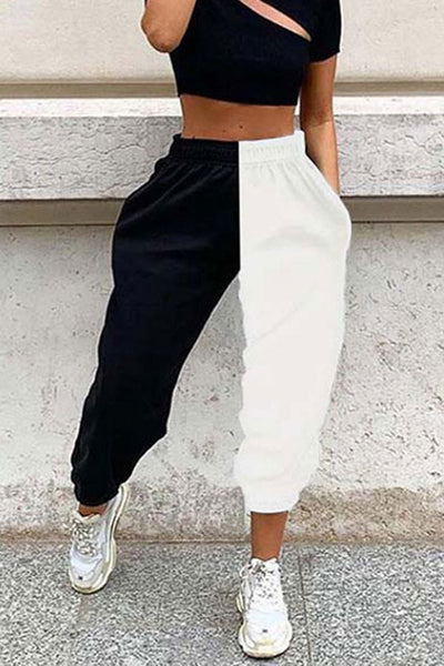 Color Block Pockets Jogger
