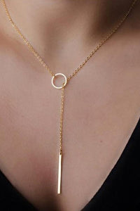 Simple Ring Chains Necklace