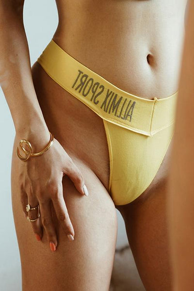 Letter Solid Thong