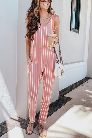 U Neck Sleeveless Jumpsuit