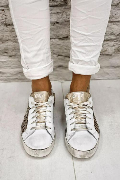 Glitter Star Lace Up Sneakers