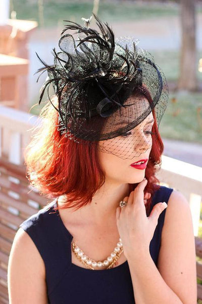Feather Veil Fascinator