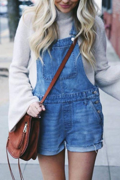 Classical Denim Romper