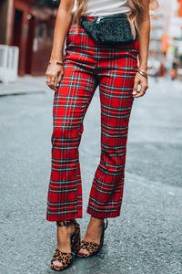 Plaid Red Pants