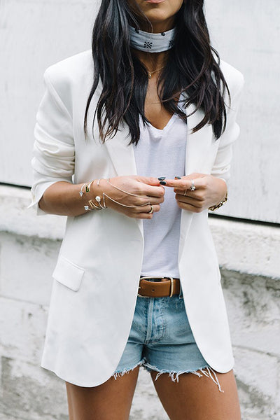 Basic Long Sleeve Blazer