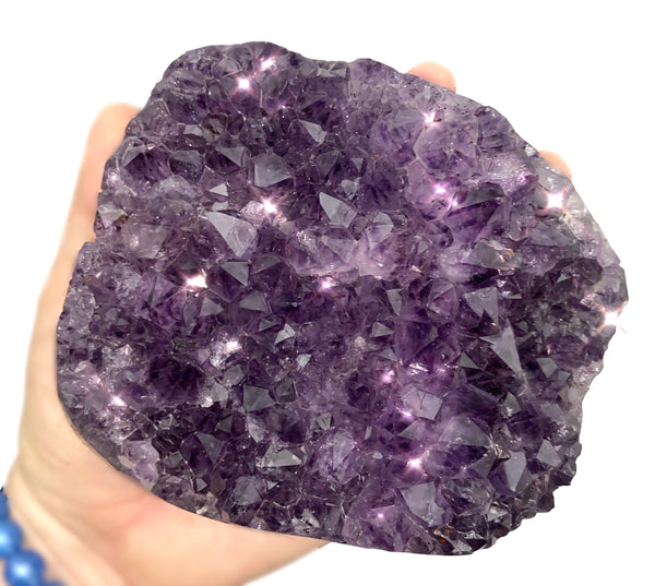 Amethyst Geode Cluster - High Quality-  Unique crystal that can bring peace and protection to your home - Chakra Palace