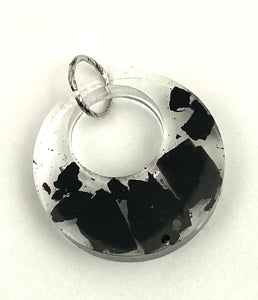 Black Tourmaline Pendant - Resin - Wonderful for repelling & blocking negative energies & psychic attack - Chakra Palace