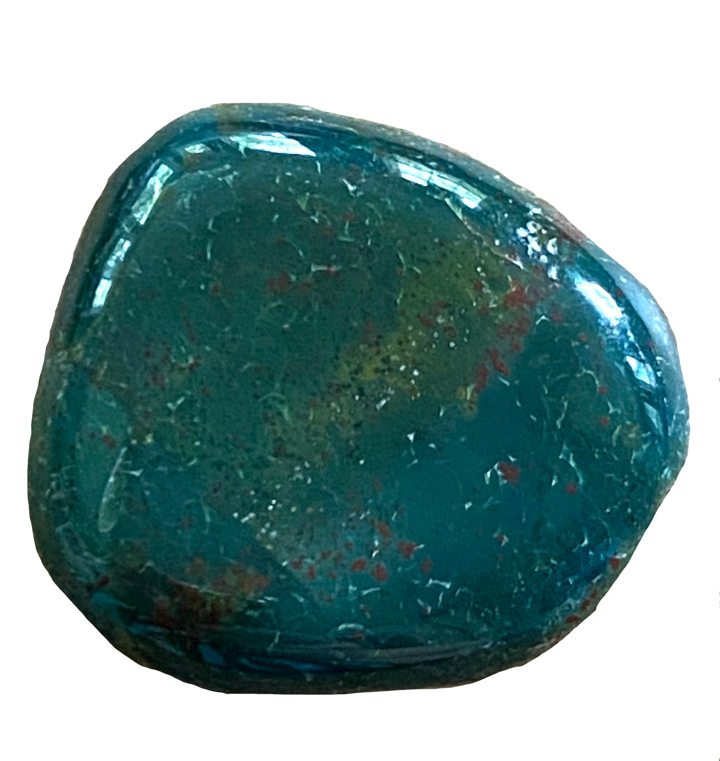 Bloodstone Crystal/ Heliotrope x1 - Wonderful for abundance, purification, intuition, and alignment - Chakra Palace