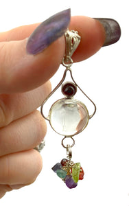 Clear Quartz Chakra Pendant - Polished Crystals for each of your chakras - wear to maintain your spiritual balance