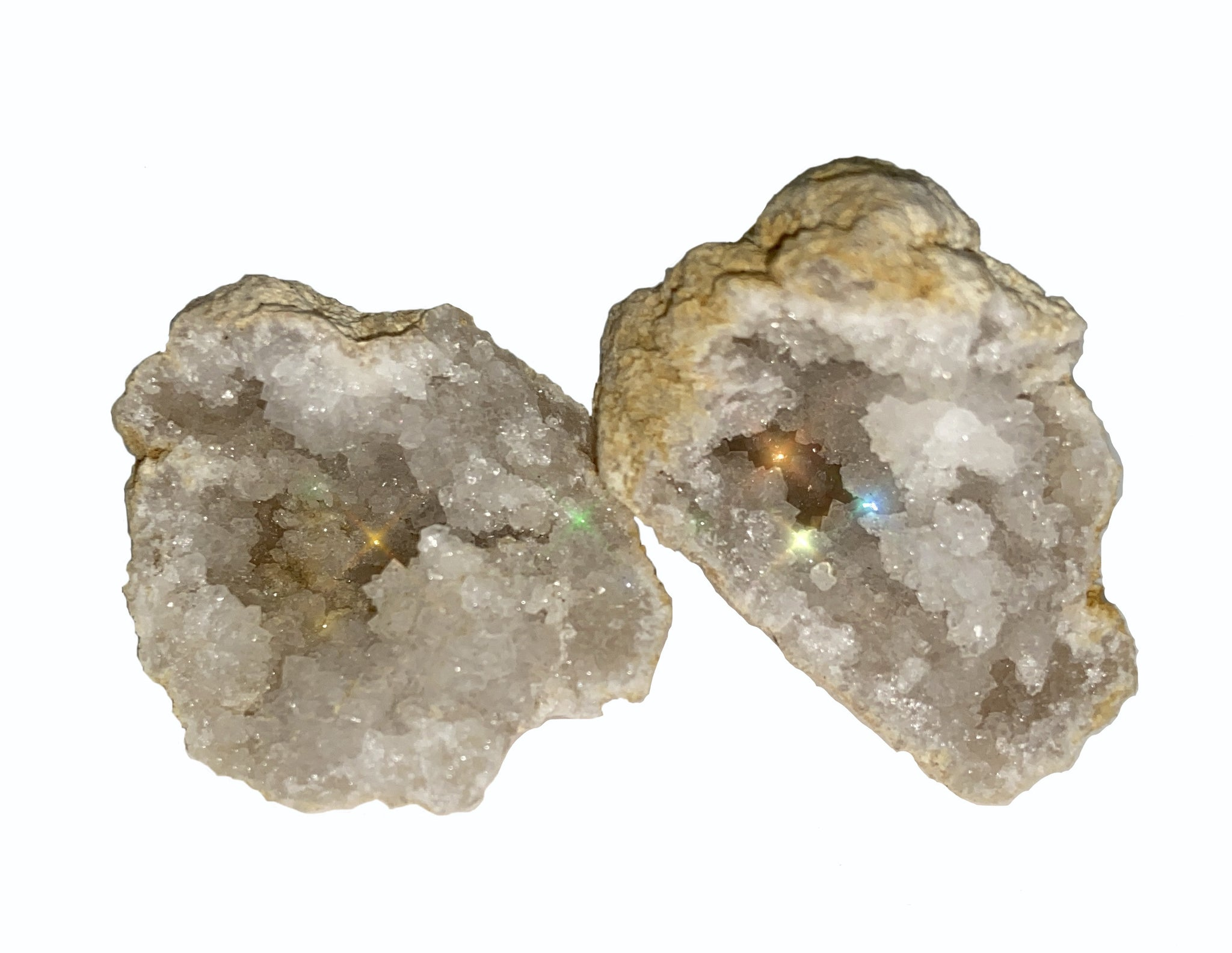 Clear Quartz Geode Stone x 1 - Master Healer & Balance Crystal - Resonates with all Chakras