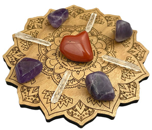 Crystal Grid for Healing and Self Love