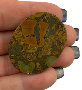 Leopard Jasper Worry Stone - Wonderful crystal for strength, stability, & attracting harmonious energies