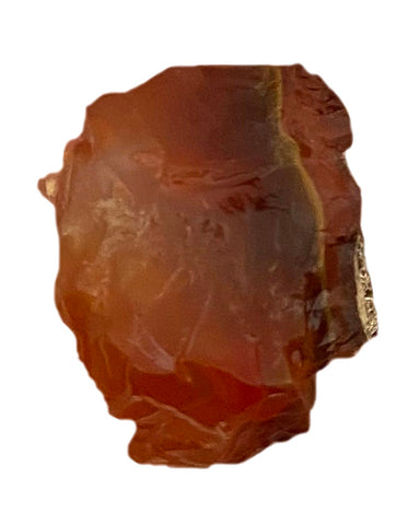 Raw Carnelian Crystal x1 - Sacral Chakra Healing Crystal - Perfect for balancing emotions, sensuality, & creativity