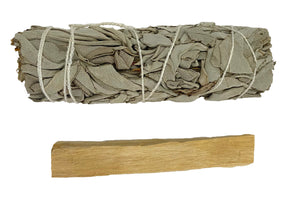 Smudge Kit Sampler - White Sage and Palo Santo - Don't know if you will like it? Try it out first!
