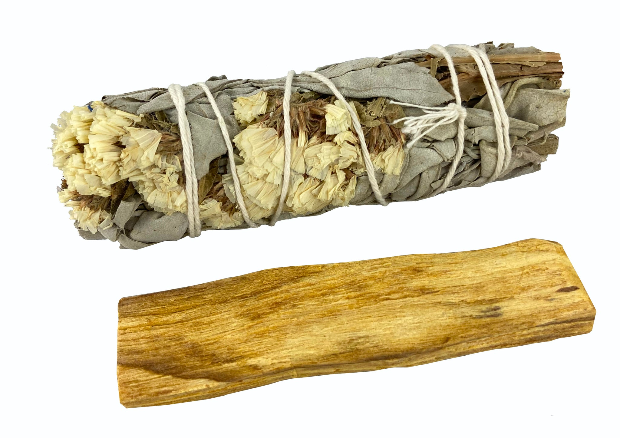 White Floral Sage with Palo Santo - Perfect for spirituality, remembrance, and purity - Smudge Kit