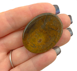 Tiger's eye worry stone - wonderful crystal for Grounding, motivating, and encourages self confidence