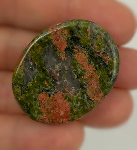 Unakite Jasper Worry Stone - Healing Crystal - Perfect for balancing emotions, promoting patience, and lifts spirits.