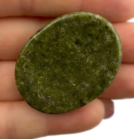 Vesuvianite / Idocrase Worry Stone - Perfect crystal for helping you release fear, old patterns, move forward spiritually, & follow your heart