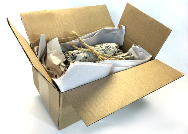 Set of 5 White California Sage Smudge Sticks - 4 inches each Extra Dry & Tightly Packed Premium Grade