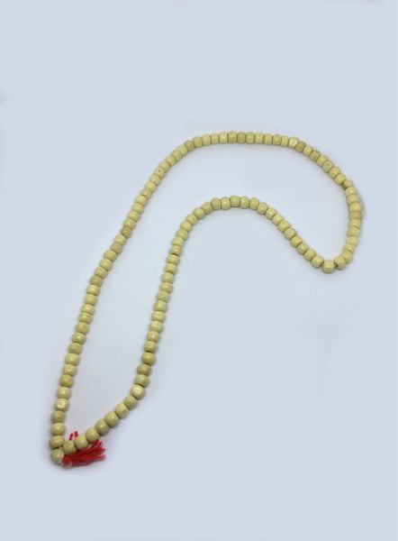 Japmala Prayer Beads Made of Tulsi Wood. Great for mantras or meditation.